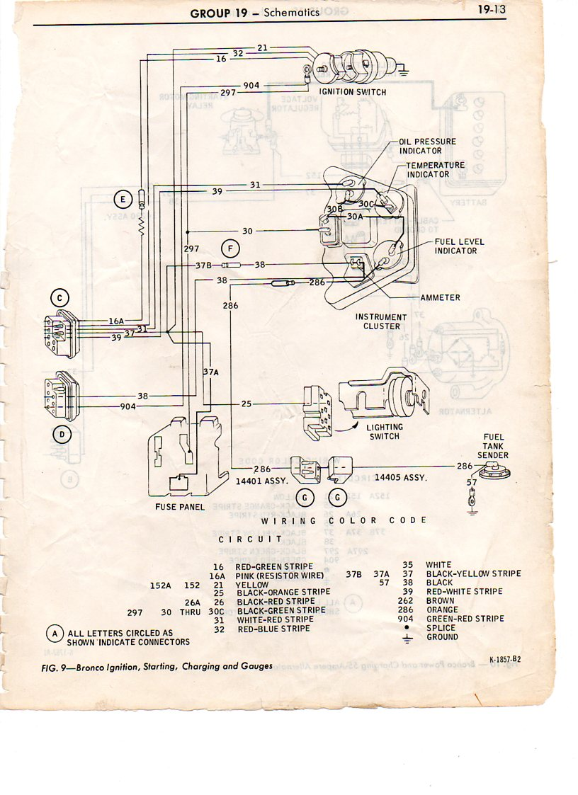 1973 Ignition Wiring - 66-77 Early Bronco - 66-96 Ford Broncos
