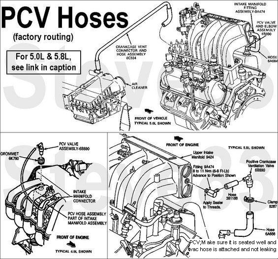 86 efi smoking 80 96 ford bronco 66 96 ford broncos early rh broncozone com Ford Coyote 5.0 Engine Diagram 1995 F150 5.0 Engine Diagram